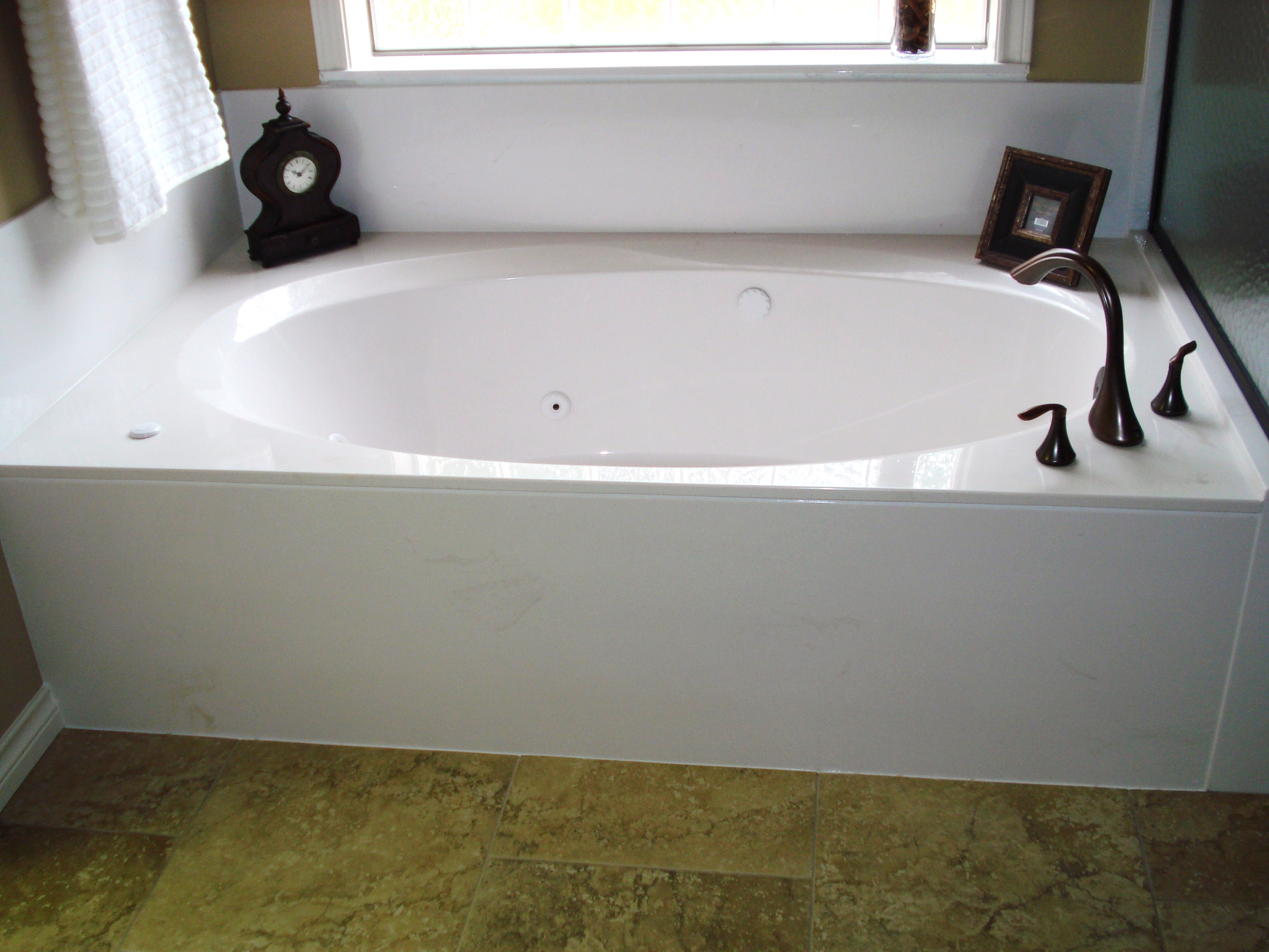 Delightful Cultured Marble Bathtub