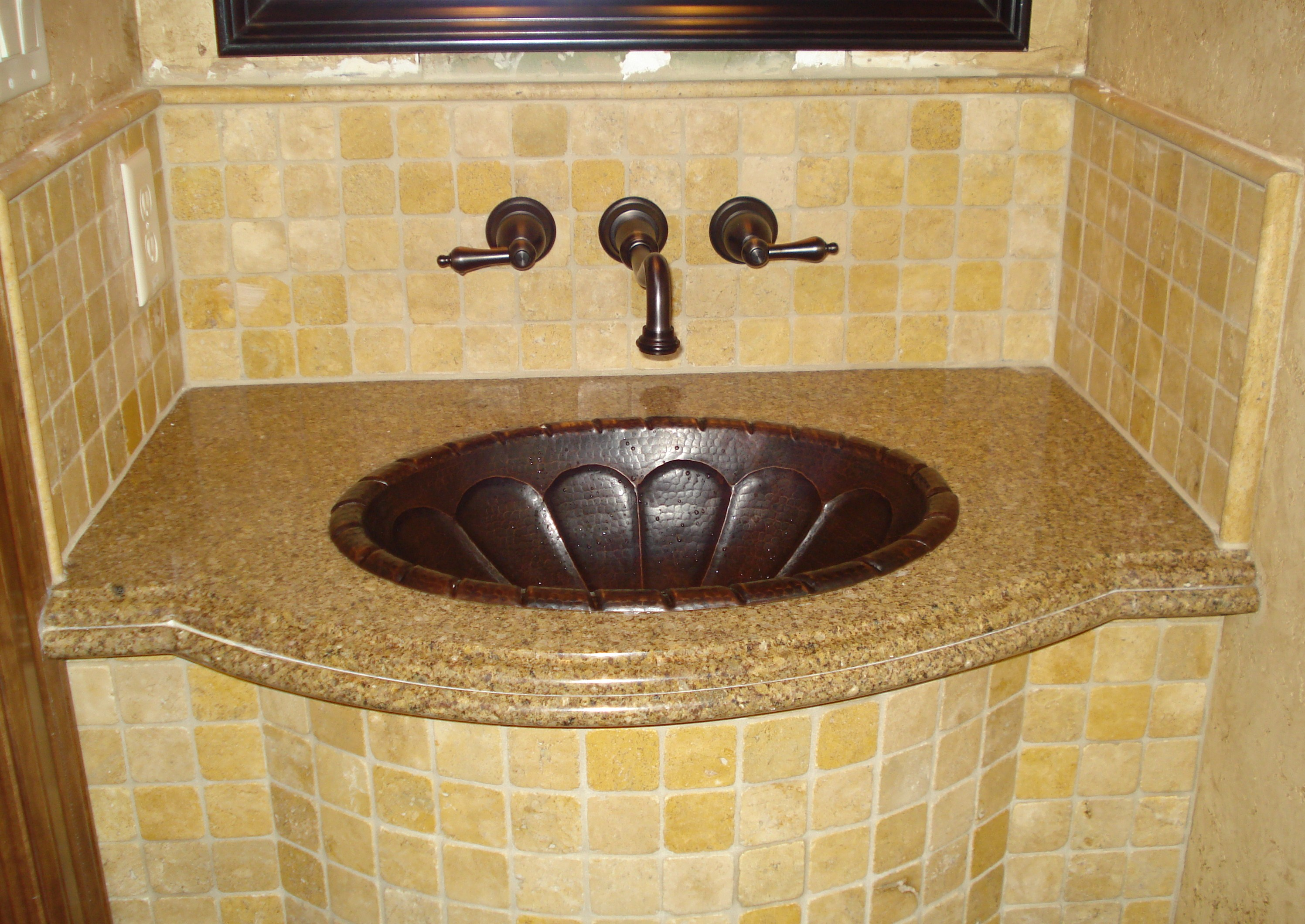 tops glass custom of vanity with home picture top clear crafted artisan integrated sink bath